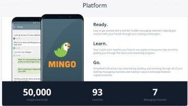mingo platform website interface