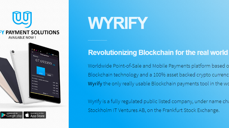 wyrify 800x447 - WYRIFY - Blockchain For The Real World Use Cases