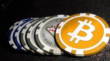 bitcoin gambling ilustration