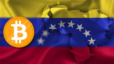 venezuela flag with btc logo
