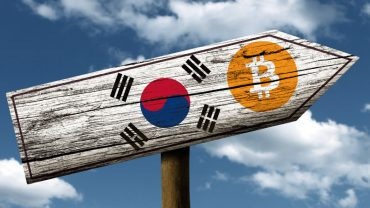 south korea bitcoin sign