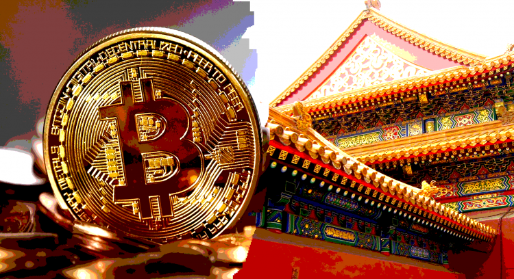 phisycal bitcoin in front of traditional building