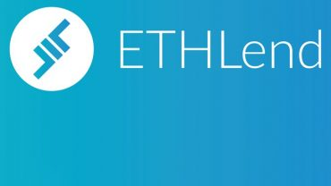 Ethlend logo on blue lending cryptocurrency