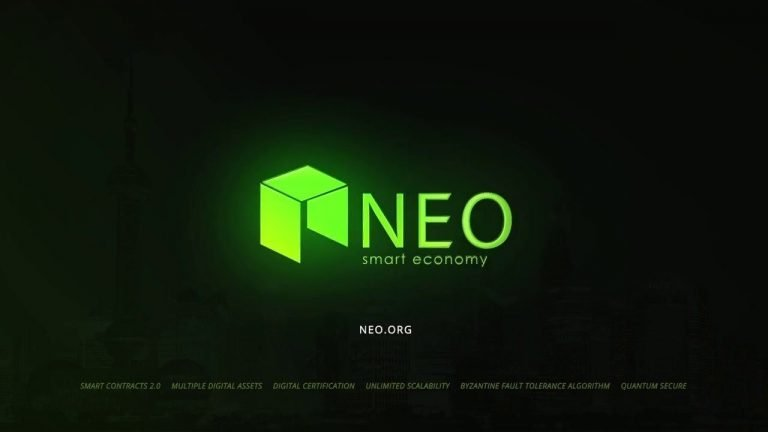 NEO price logo and project glow
