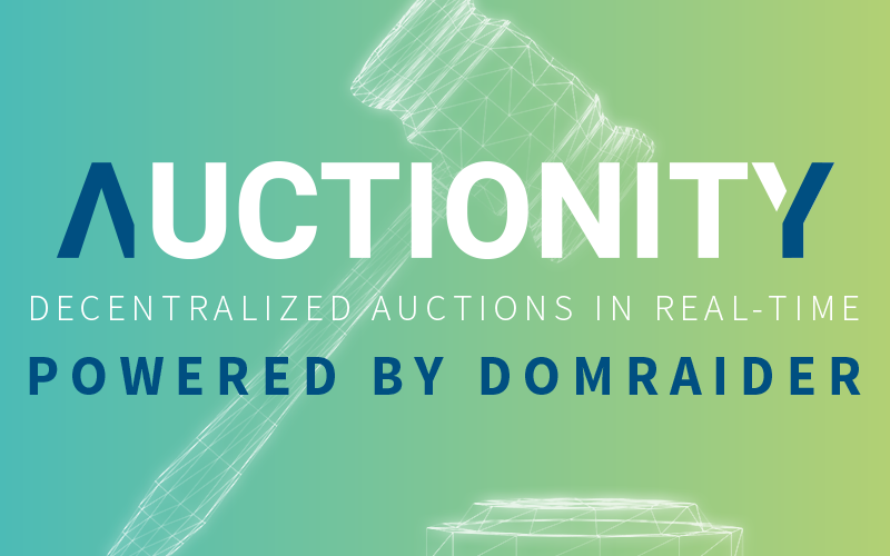 Dom Raider cover 800x500 - DomRaider Group Unveils the First Version of their Blockchain Based Auction Solution under the New Brand Name Auctionity