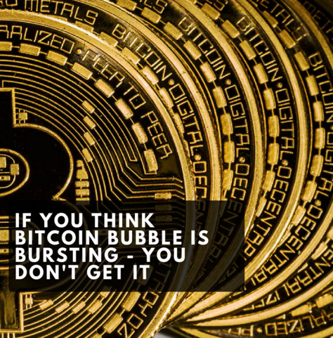 Imagen 1 - If you think a bitcoin bubble is bursting, you don't get it