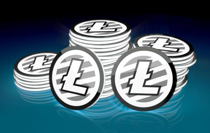 illustration of stacked litecoins