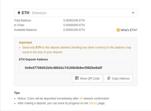 eth deposit - Guide: How To Buy nCash On Binance