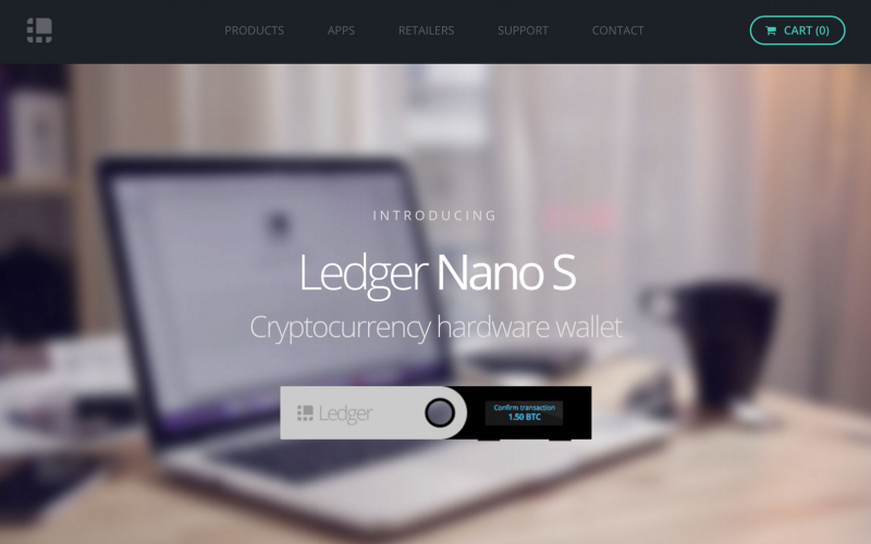 ledger nano s hardware wallet 800x500 - Technology Giants Including Google Want to Fund the Hardware Wallet Company Ledger