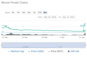 chart 300x200 - Bitcoin Private Skyrockets and Reaches the Top 40 Cryptos By Market Cap
