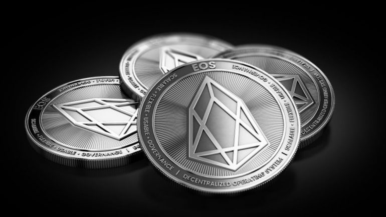 EOS cryptocurrency coins