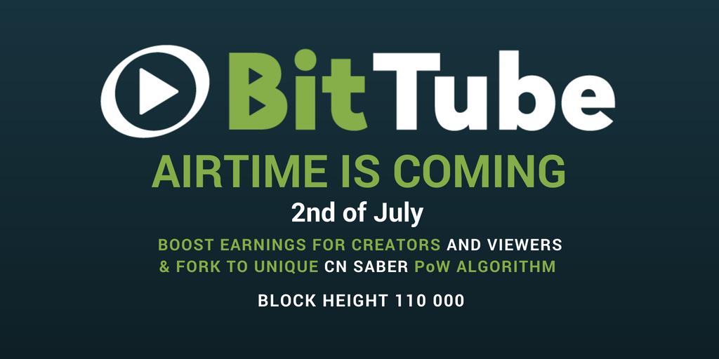 bittube 1024x512 - Important Hard Forks to Happen in July 2018