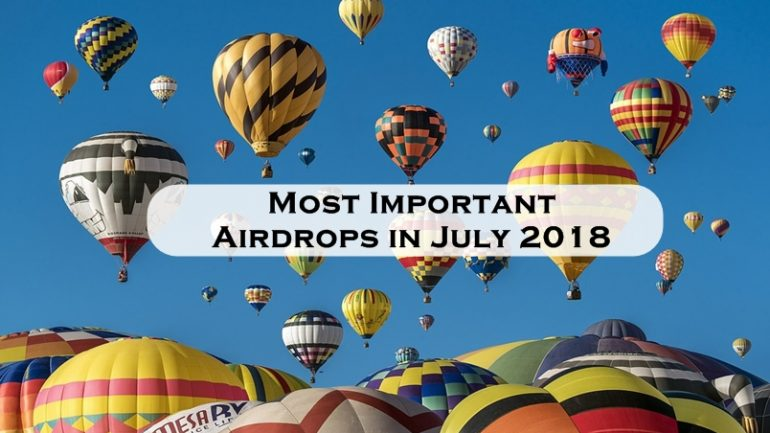 ost important airdrops july 2018