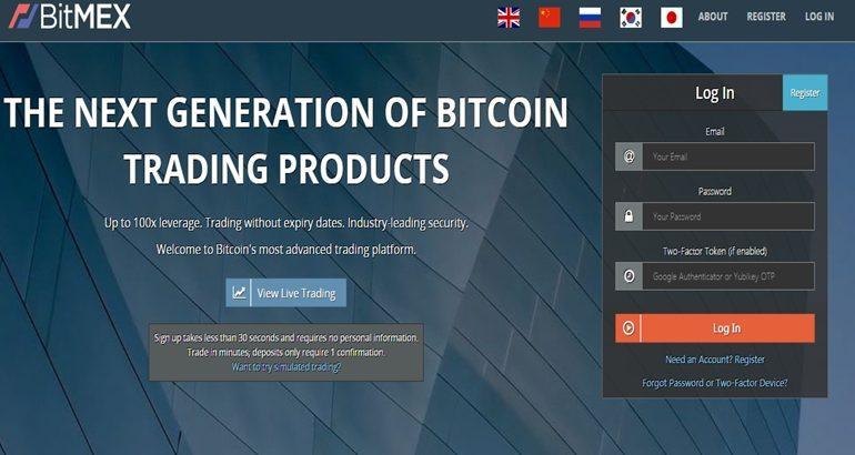bitmex website interface