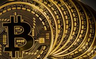 bitcoins staking one above each other