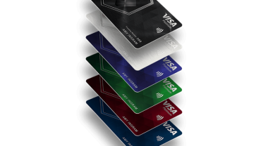shows credit card stack