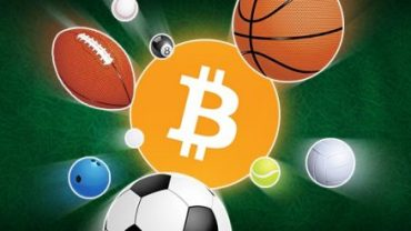 different type of balls in above bitcoin logo