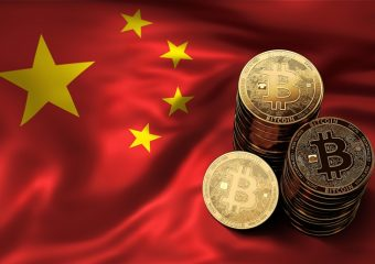 bitcoin on the chinese flag