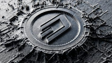 Dash coin in metal