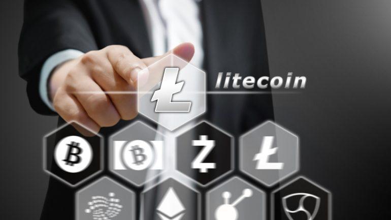 man Point at Litecoin