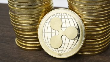 Ripple XRP coins stacked value