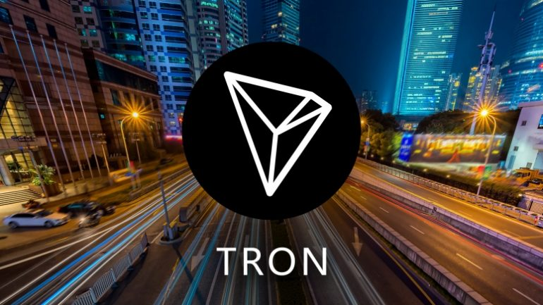 Tron coin on a city street
