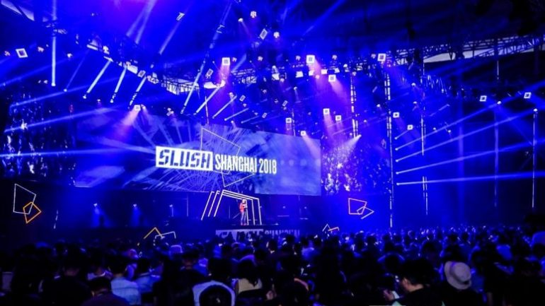 slush shanghai 2018 scene