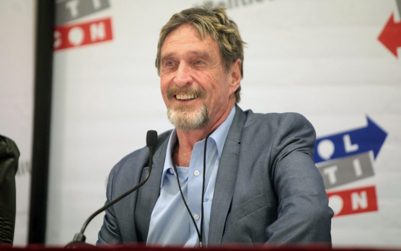 john mcaffe 800x500 - John McAfee Says Decentralized Exchanges Could Trigger an Economic Boom