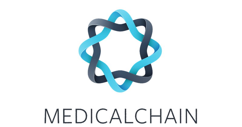 medicalchain logo dark medical blockchain project