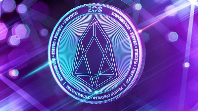 EOS coin neon