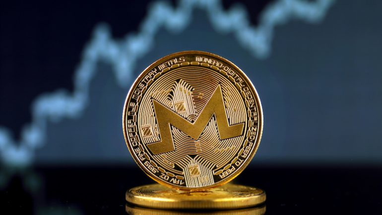 golden monero coin