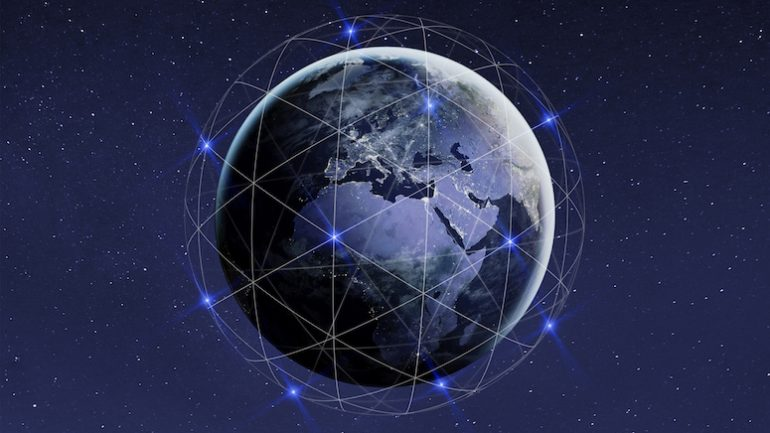 Connected world globe