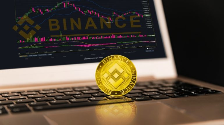 binance gold coin on mac laptop