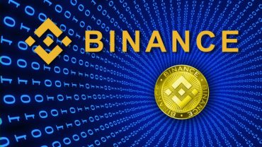 Binance logo on blue