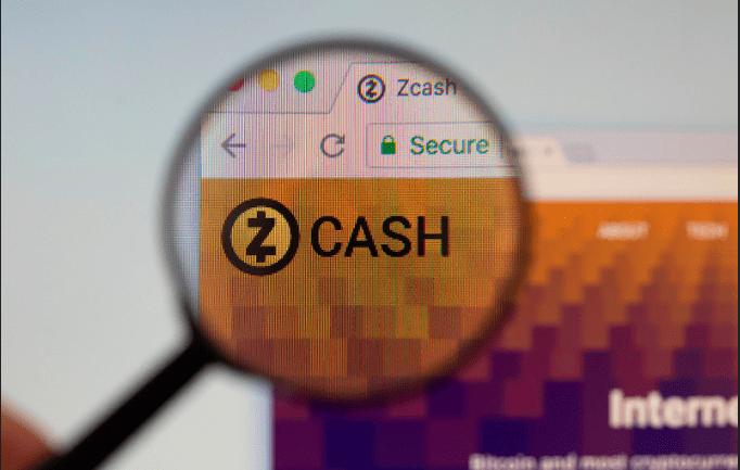 zcash logo on website