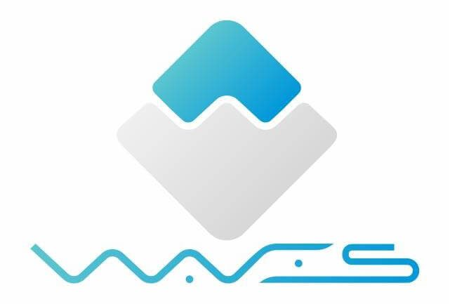 main white logo for Waves coin