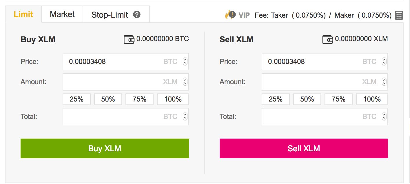 xlm binance 2