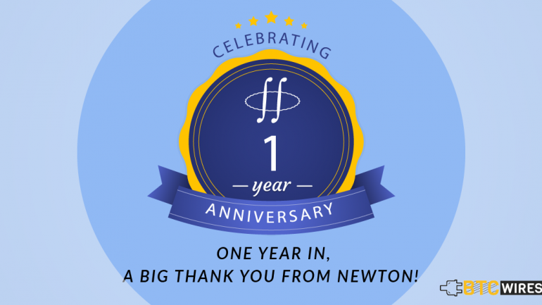 newton crypto 1 year anniversary