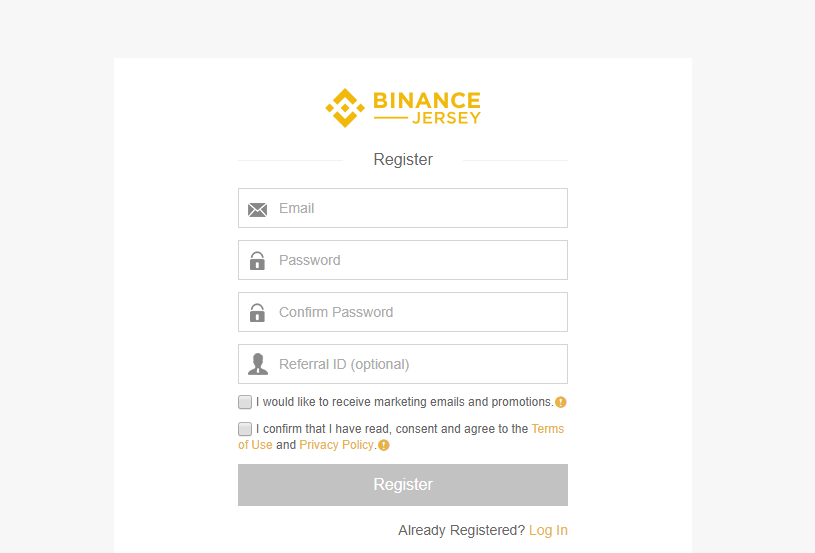 Register Binance Jersey
