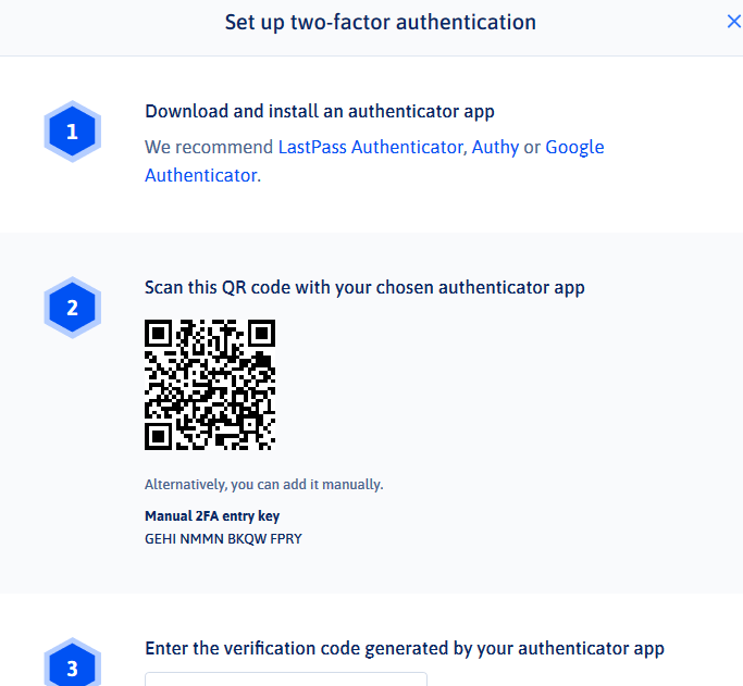 Nash two-factor authentication