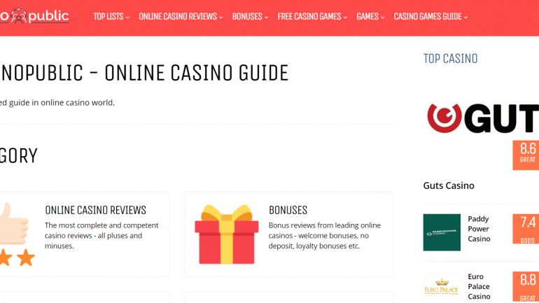 casinopublic website itnerface