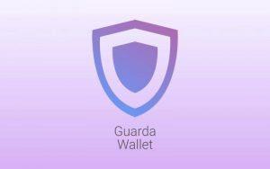 Guarda wallet Logo on Purple backdrop