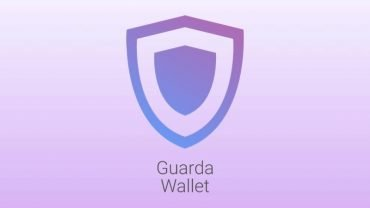 Guarda IOTA wallet Logo on Purple backdrop