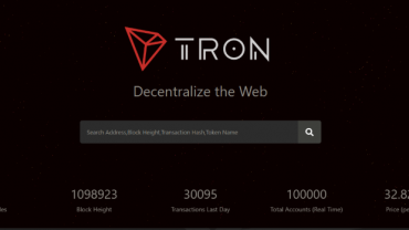 Tron Scan Main Page Wallet And Tron Center