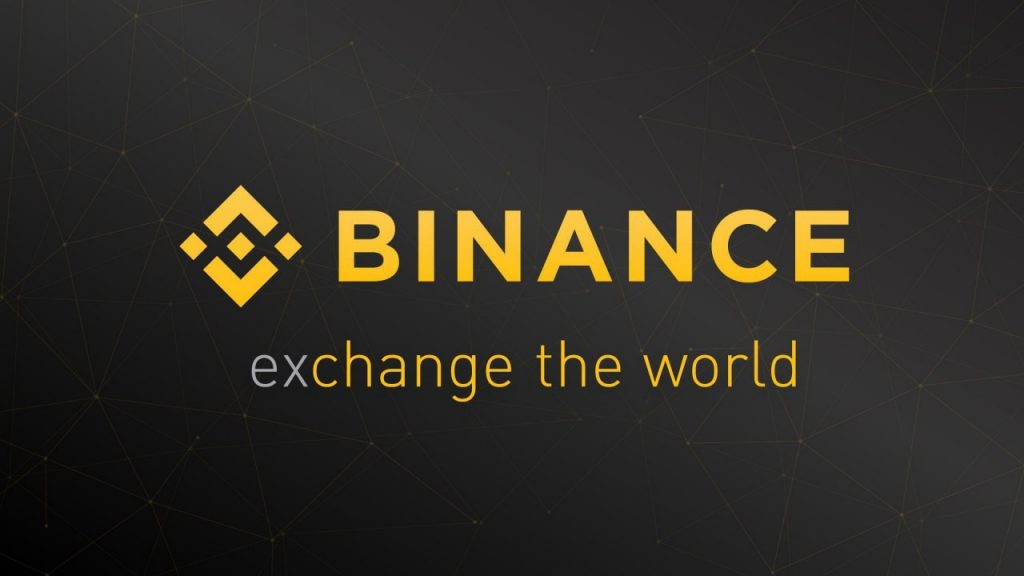 Binance logo and motto