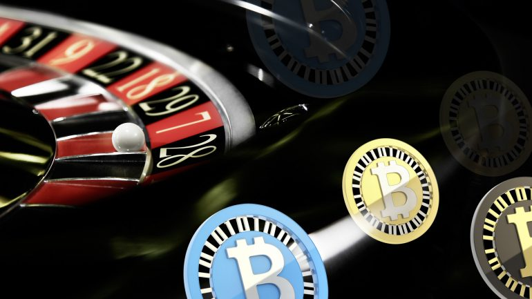 bitcoin interpretation with roulette on the back