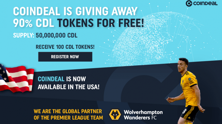coindeal giving away 90% cdl tokens for free