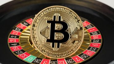 phisycal bitcoin with roulette on the back