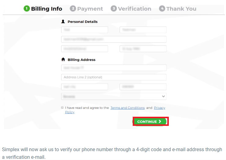Binance Account Billing Info