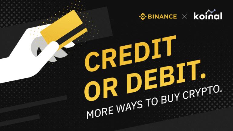 Binance made partnership with Credit or Debit Cards company Koinal